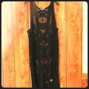 Kate & Mallory maxi length duster lace vest